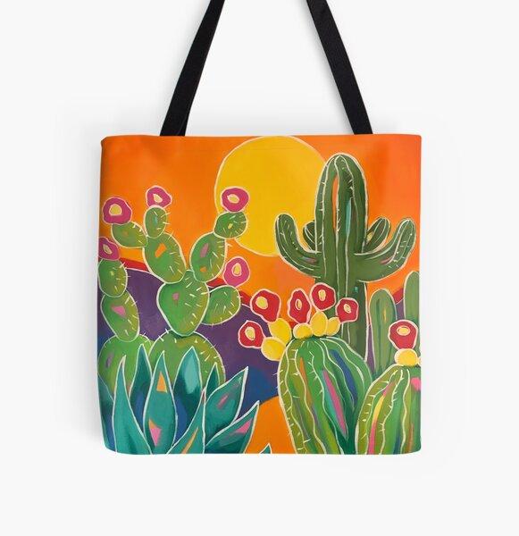 Saguaro Sunset All Over Print Tote Bag