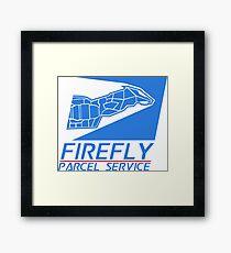 Firefly Parcel Service Framed Print