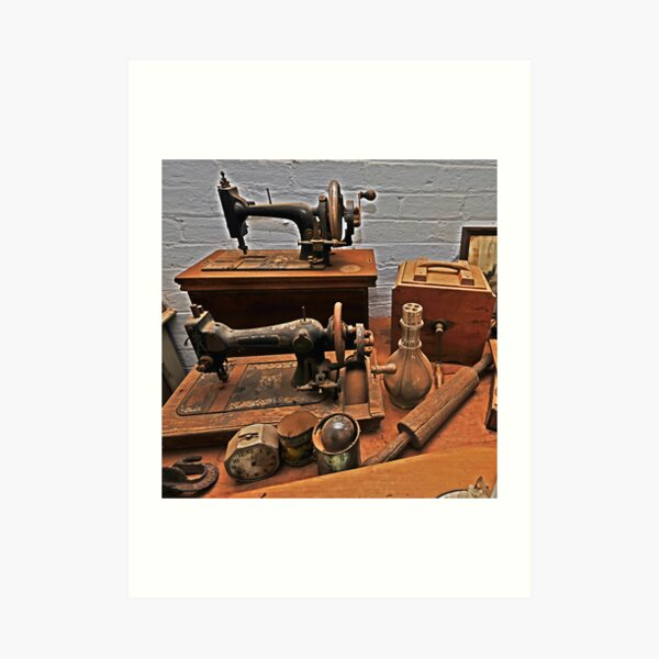 Vintage Sewing Machines Art Print