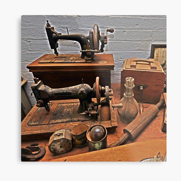Vintage Sewing Machines Metal Print