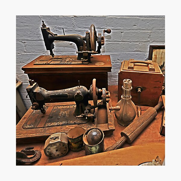 Vintage Sewing Machines Photographic Print