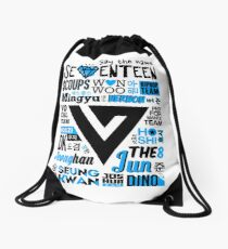 SEVENTEEN Collage Drawstring Bag