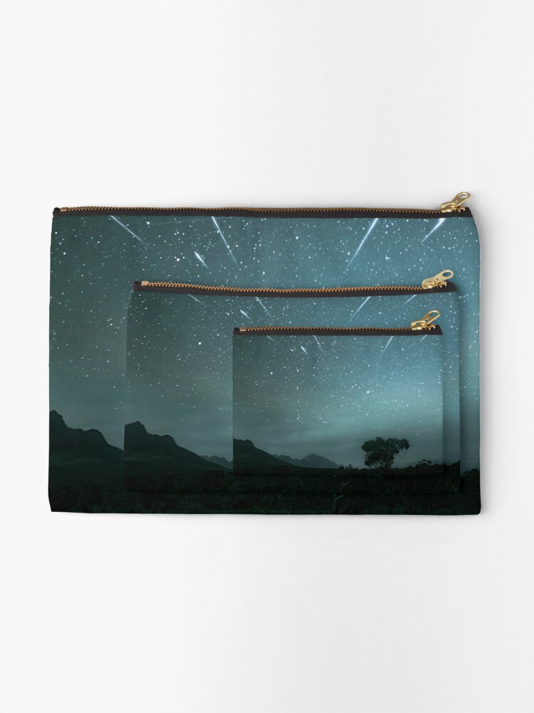 Alternate view of Geminid Meteor Shower - Grampians Zipper Pouch