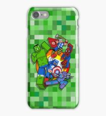 Cute Cube superheroes Group iPhone Case/Skin