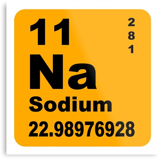 Sodium Periodic Table Of Elements Metal Prints By Walterericsy