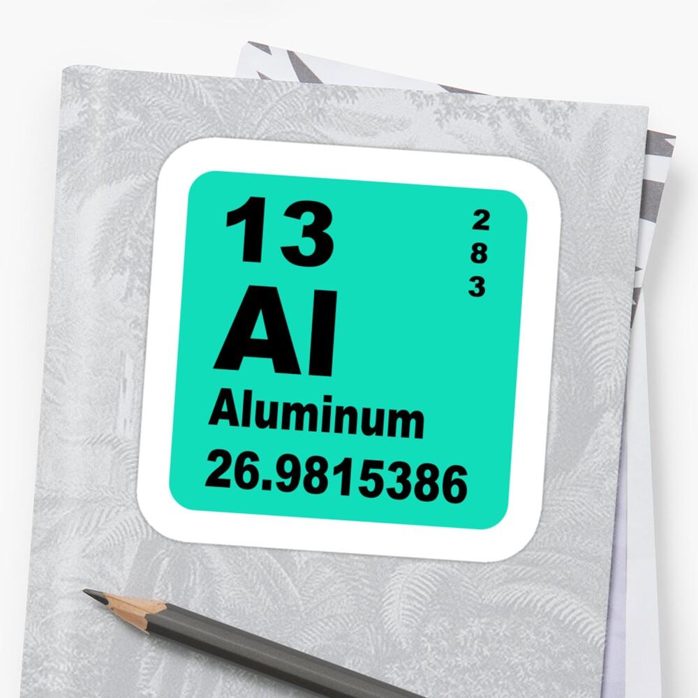 Aluminium periodic table of elements stickers by walterericsy aluminium periodic table of elements by walterericsy urtaz Choice Image
