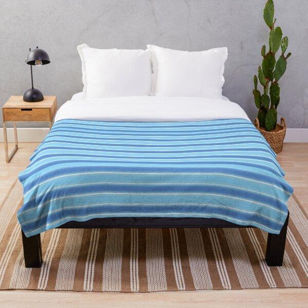 Horizontal stripes -  Sea color  Throw Blanket