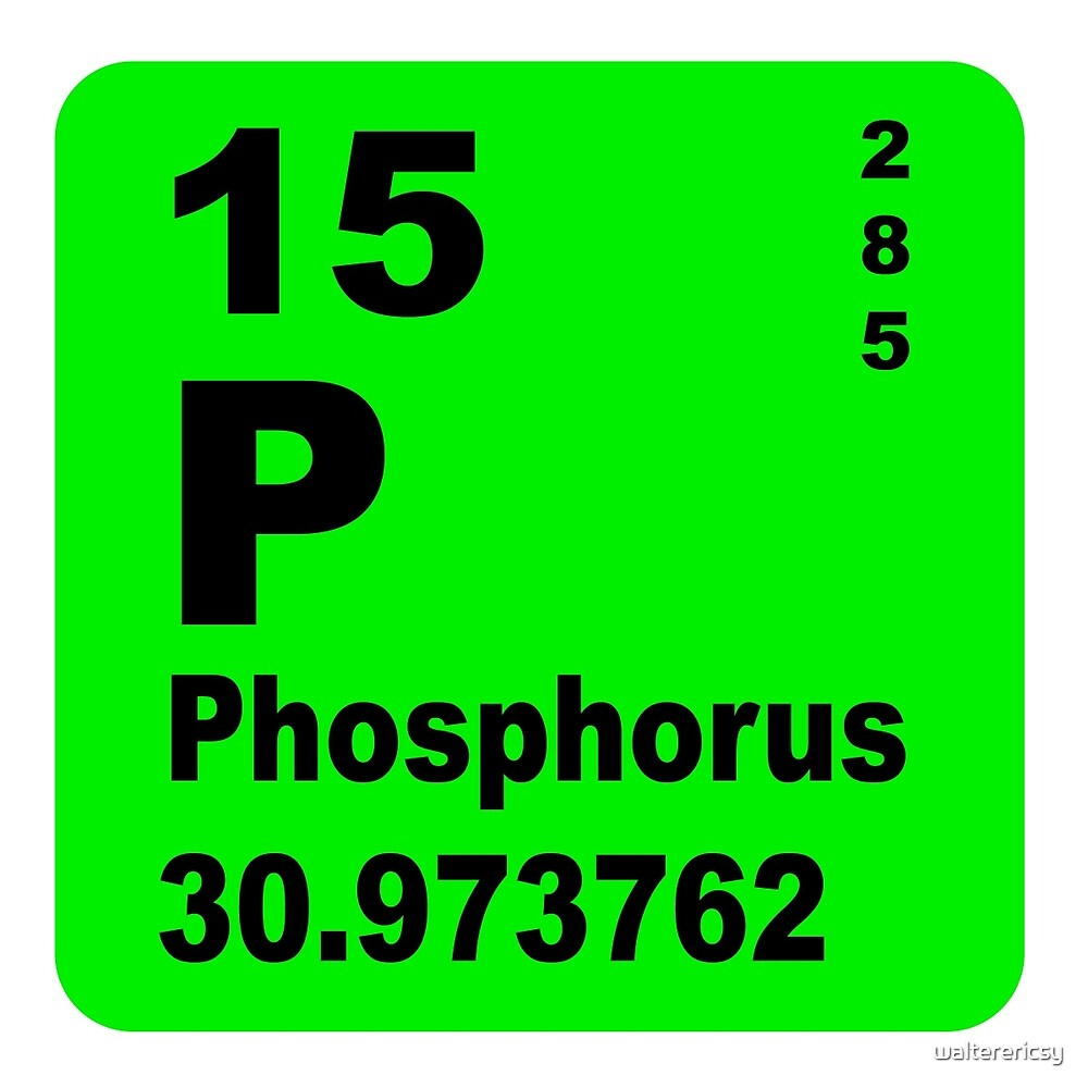 Phosphorus periodic table of elements by walterericsy redbubble phosphorus periodic table of elements by walterericsy gamestrikefo Gallery