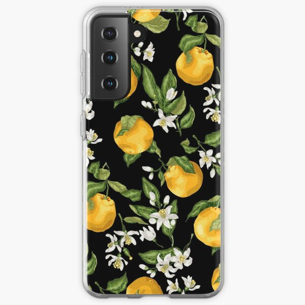 Citrus orange blossom with fruits and flowers Samsung Galaxy Soft Case