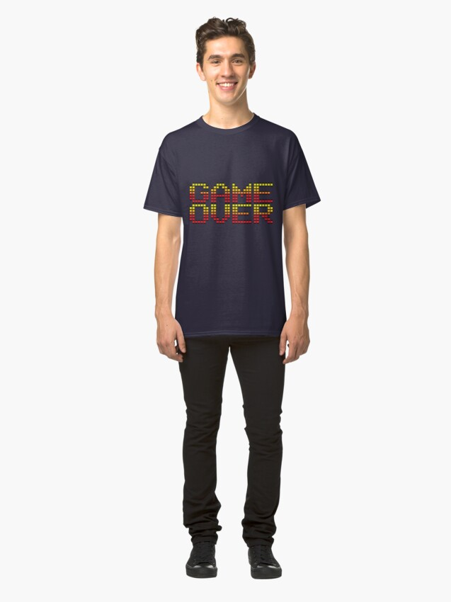 Alternate view of Game Over retro video game logo Classic T-Shirt