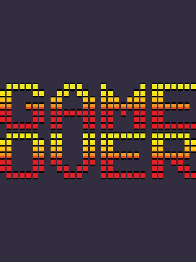 Game Over retro video game logo by pixeldreamer