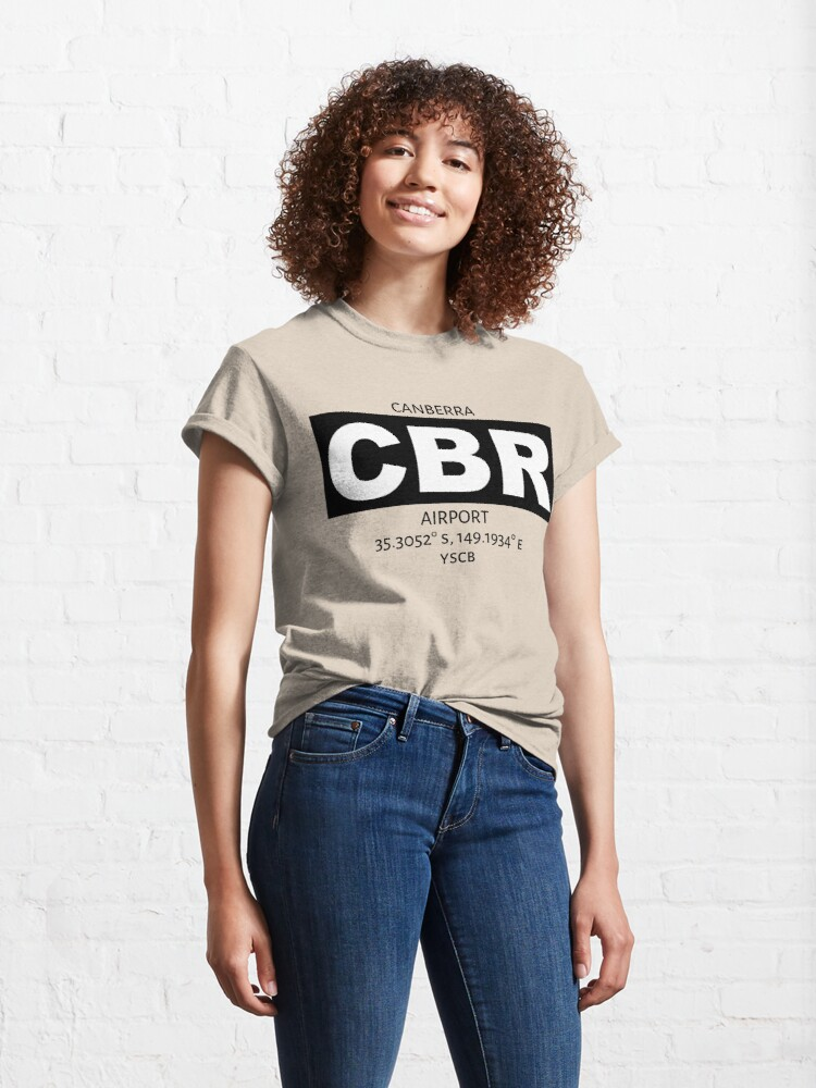 Alternate view of Canberra Airport CBR Classic T-Shirt