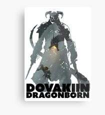 Dovakiin/Dragonborn Art Decal Metal Print