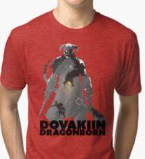 Dovakiin/Dragonborn Art Decal Tri-blend T-Shirt
