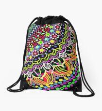 Wedding Festivities Mandala Zentangle Drawstring Bag
