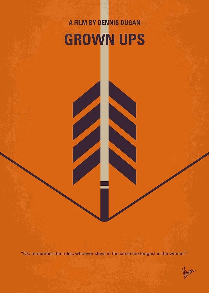 No1059 Mein minimales Filmplakat von GROW UPS von ChungKong Art