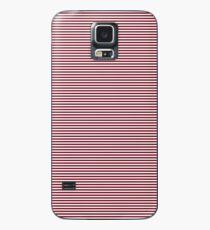 Deep Dark Red Pear and White Horizontal Nautical Sailor Stripe Case/Skin for Samsung Galaxy