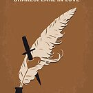 No1071 Mein SHAKESPEARE IN LOVE minimales Filmplakat von ChungKong Art