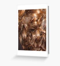 Hairscape - Shiny Auburn Hair Greeting Card