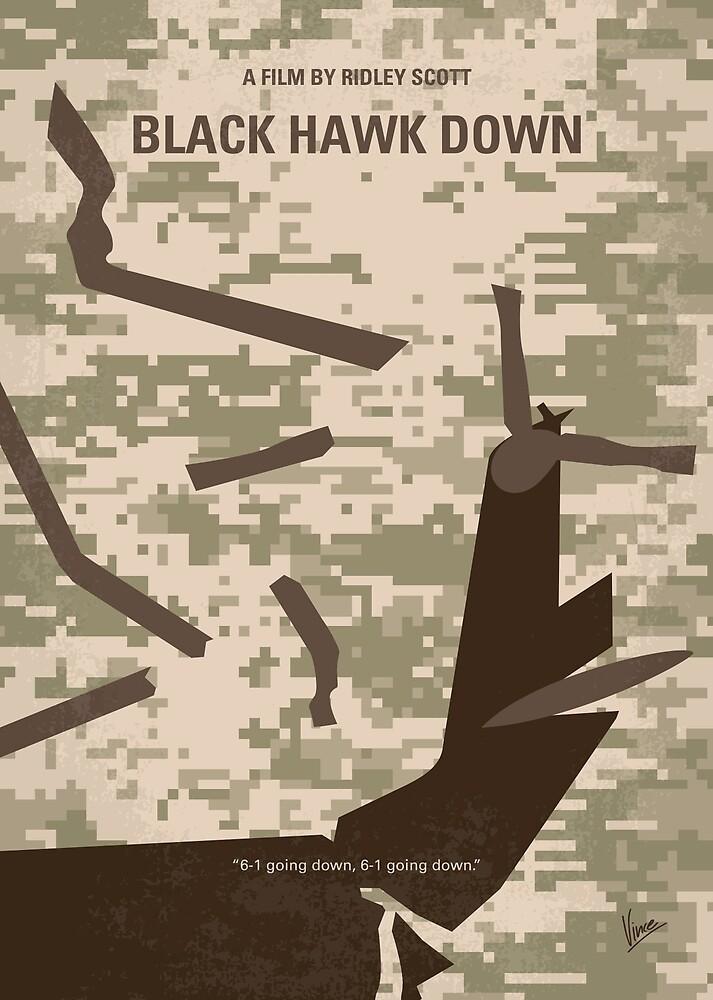 No1076 Mein Black Hawk Down Minimal Movie Poster von ChungKong Art