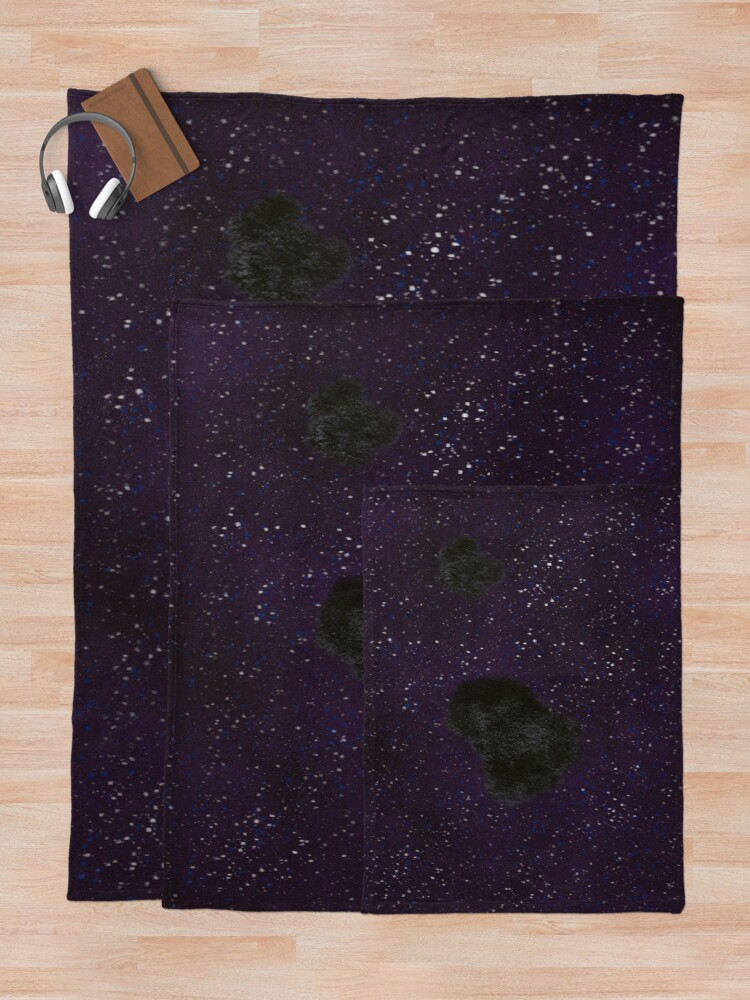 Alternate view of Asteroid  Throw Blanket