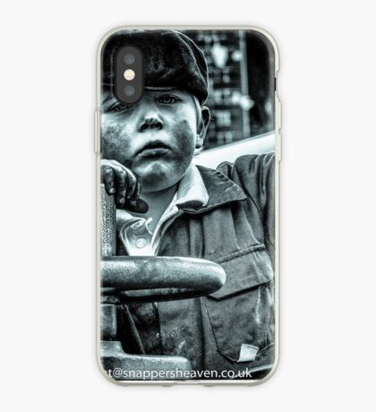 Boy on a traction engine  iPhone Case