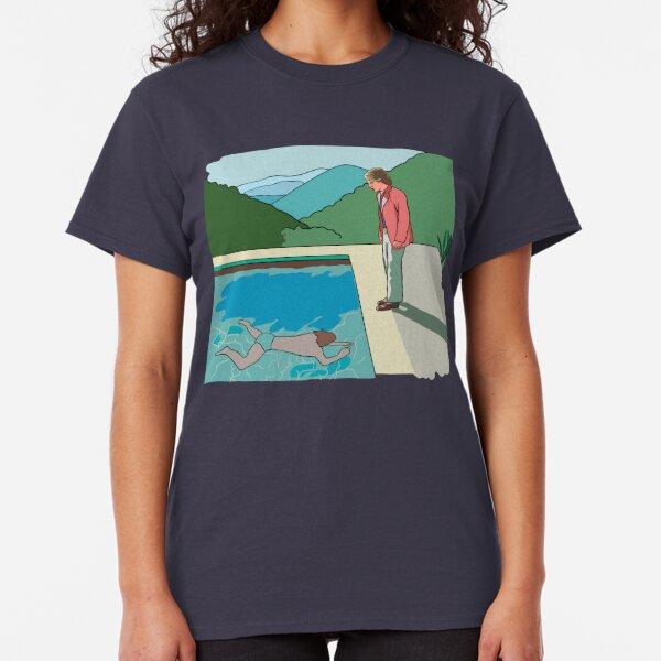 Hockney Pool Re-Drawn Classic T-Shirt