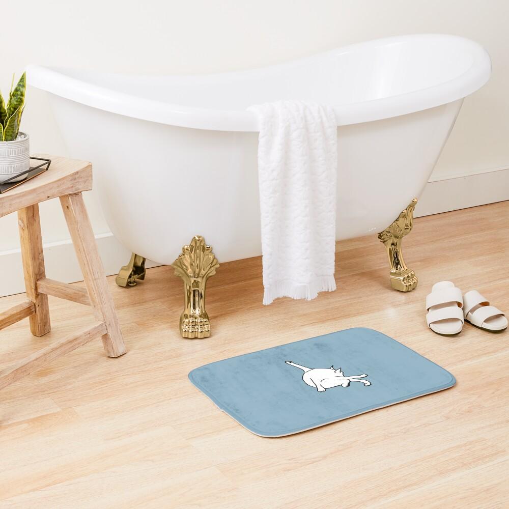 Cat washing bottom Bath Mat