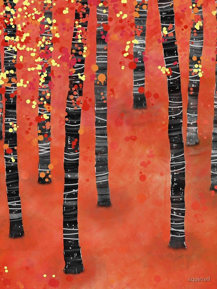Birches - Autumn Woodland Abstract Landscape by squirrell