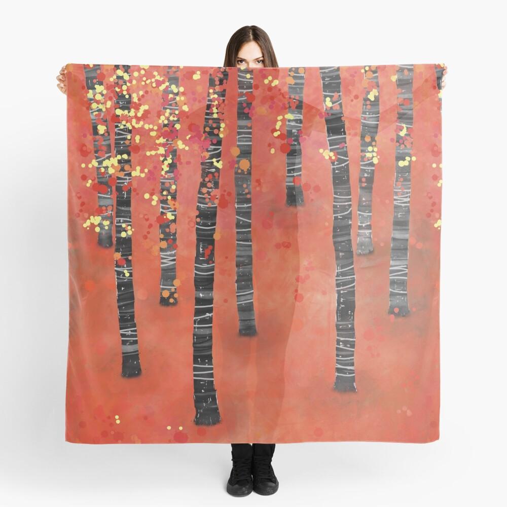 Birches - Autumn Woodland Abstract Landscape Scarf