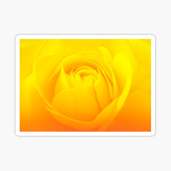Yellow For Joy And Inspiration Sticker