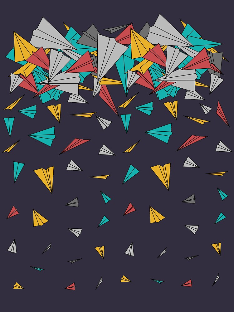 Flying paper planes  by masatomio