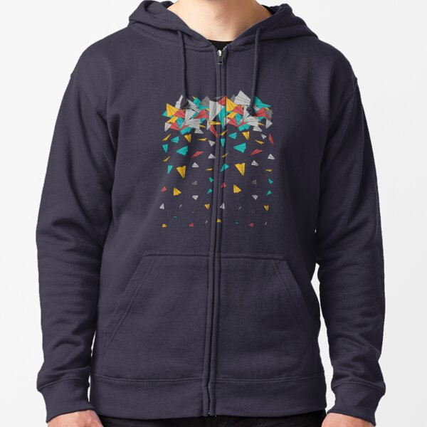 Flying paper planes  Zipped Hoodie