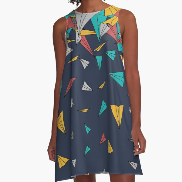 Flying paper planes  A-Linien Kleid