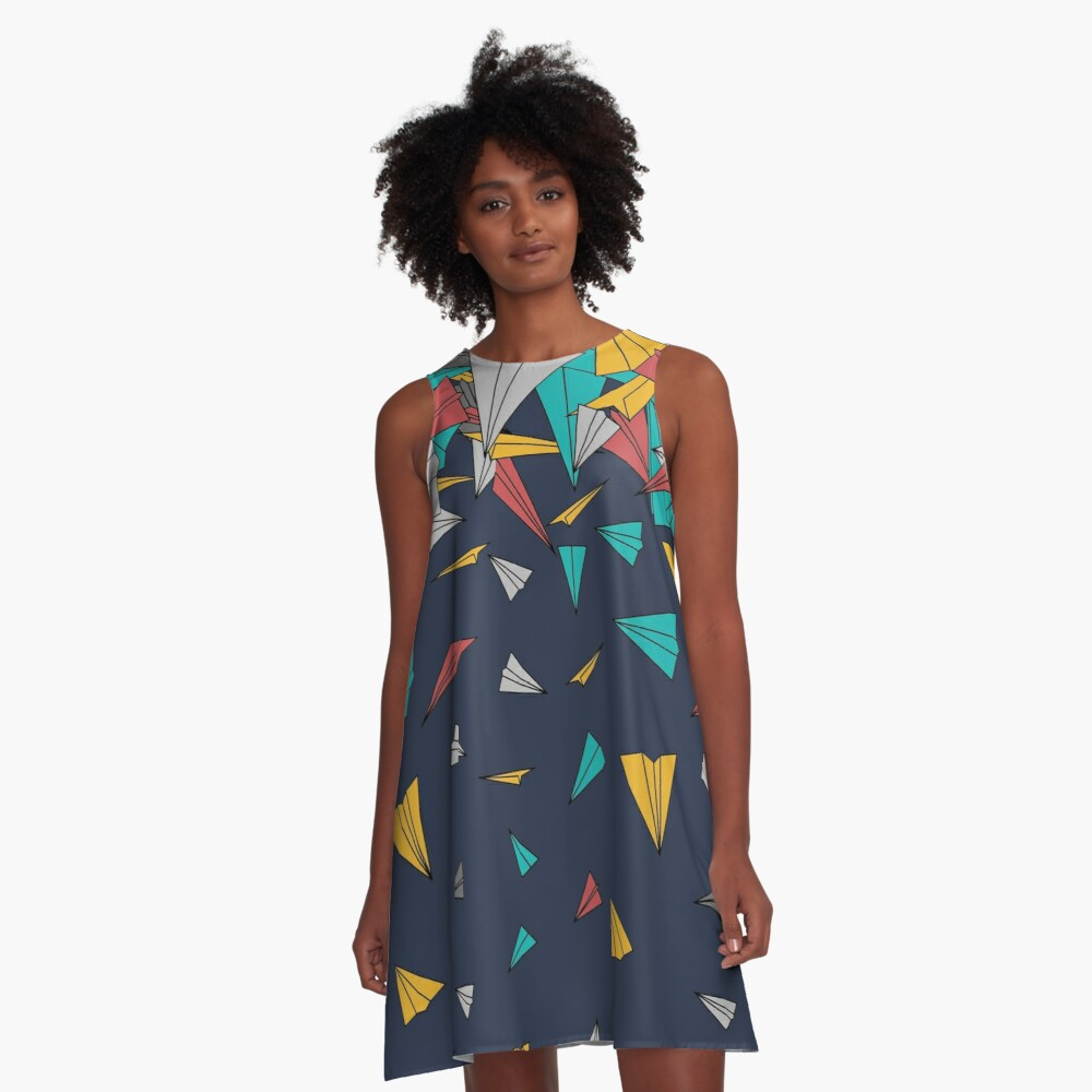 Flying paper planes  A-Line Dress