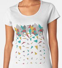 Camiseta premium de cuello ancho Aviones de papel volador