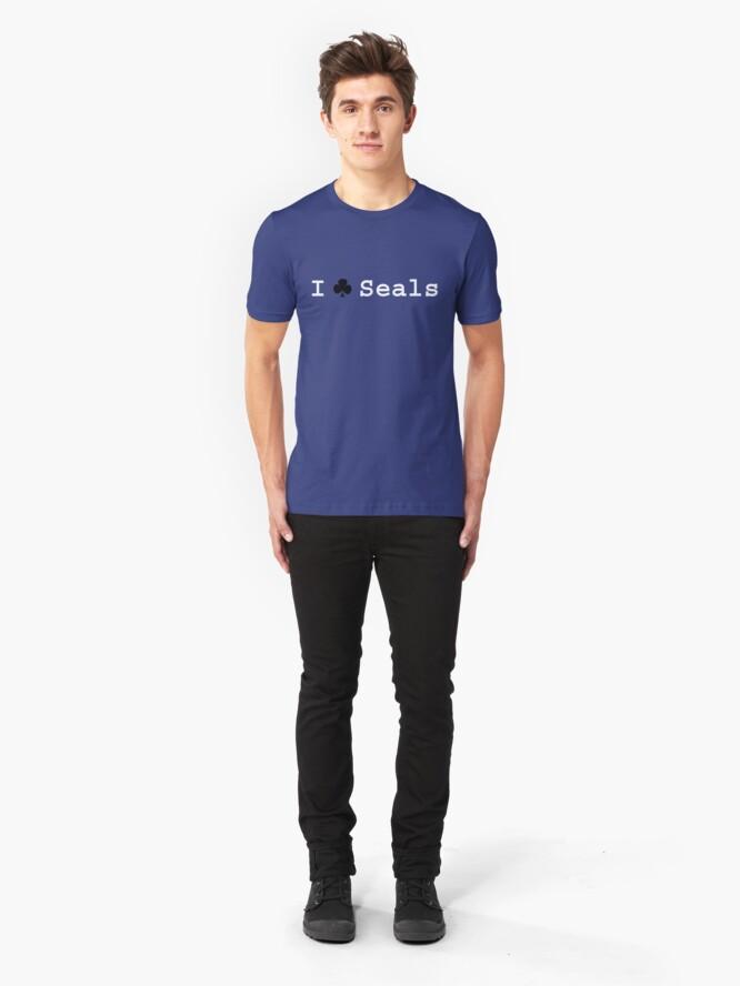 Alternate view of I ♣ Seals Slim Fit T-Shirt