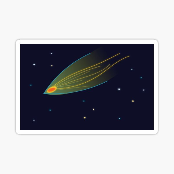 Buy This Nice Asteroid Art for Asteroid Day or any other occassion Sticker