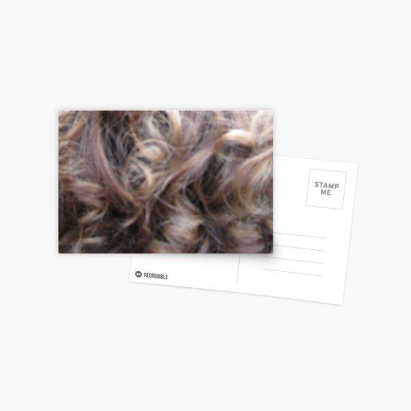 Hairscape - curly hair Postcard