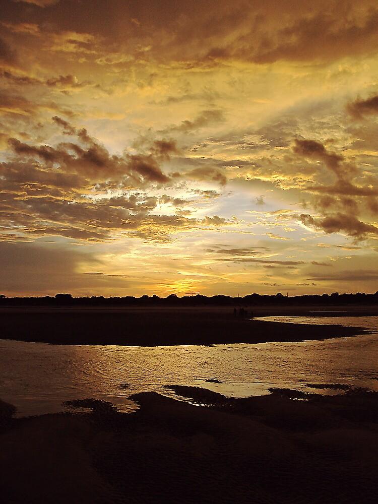 Sunset on the Beach by jenseye