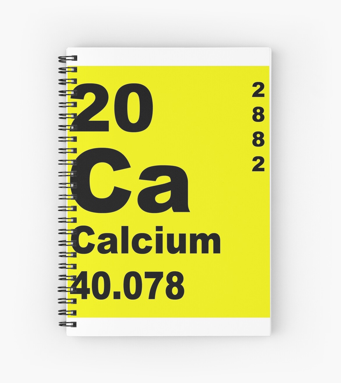 Calcium Periodic Table Of Elements Spiral Notebooks By Walterericsy