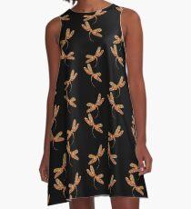 Dragonflies in Flight A-Line Dress
