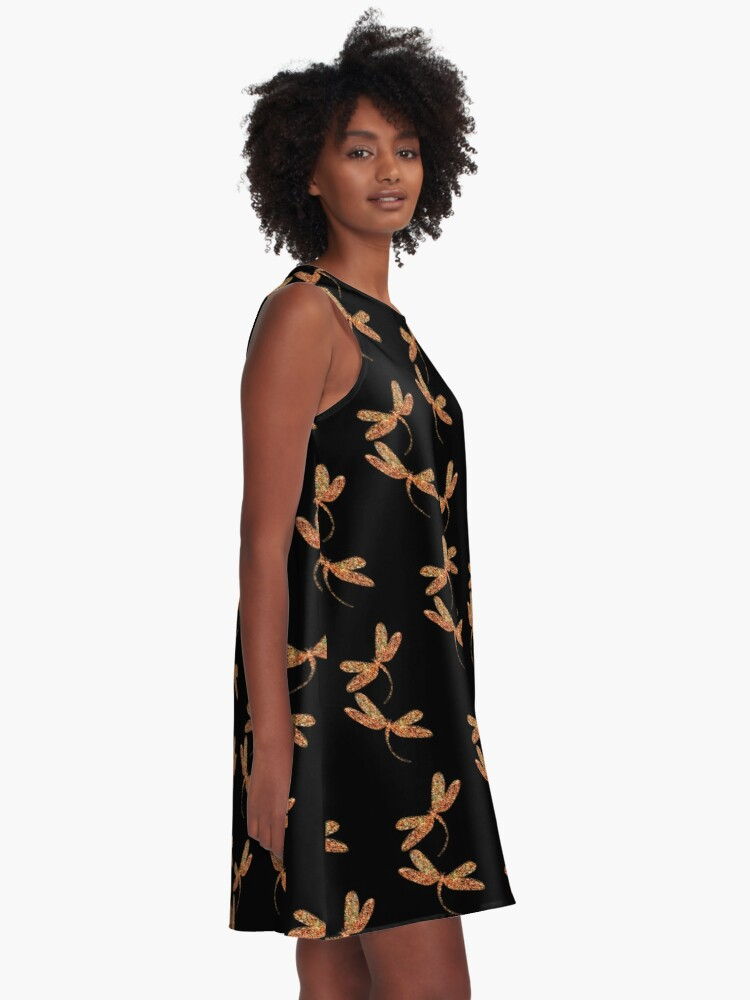 Alternate view of Dragonflies in Flight A-Line Dress