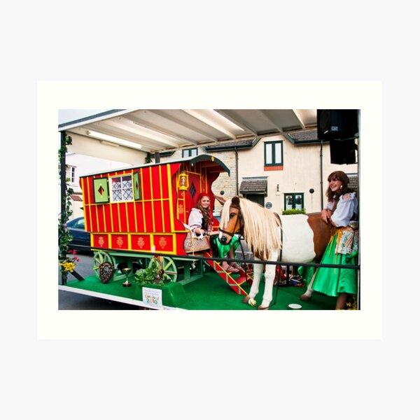 gypsy caravan Art Print