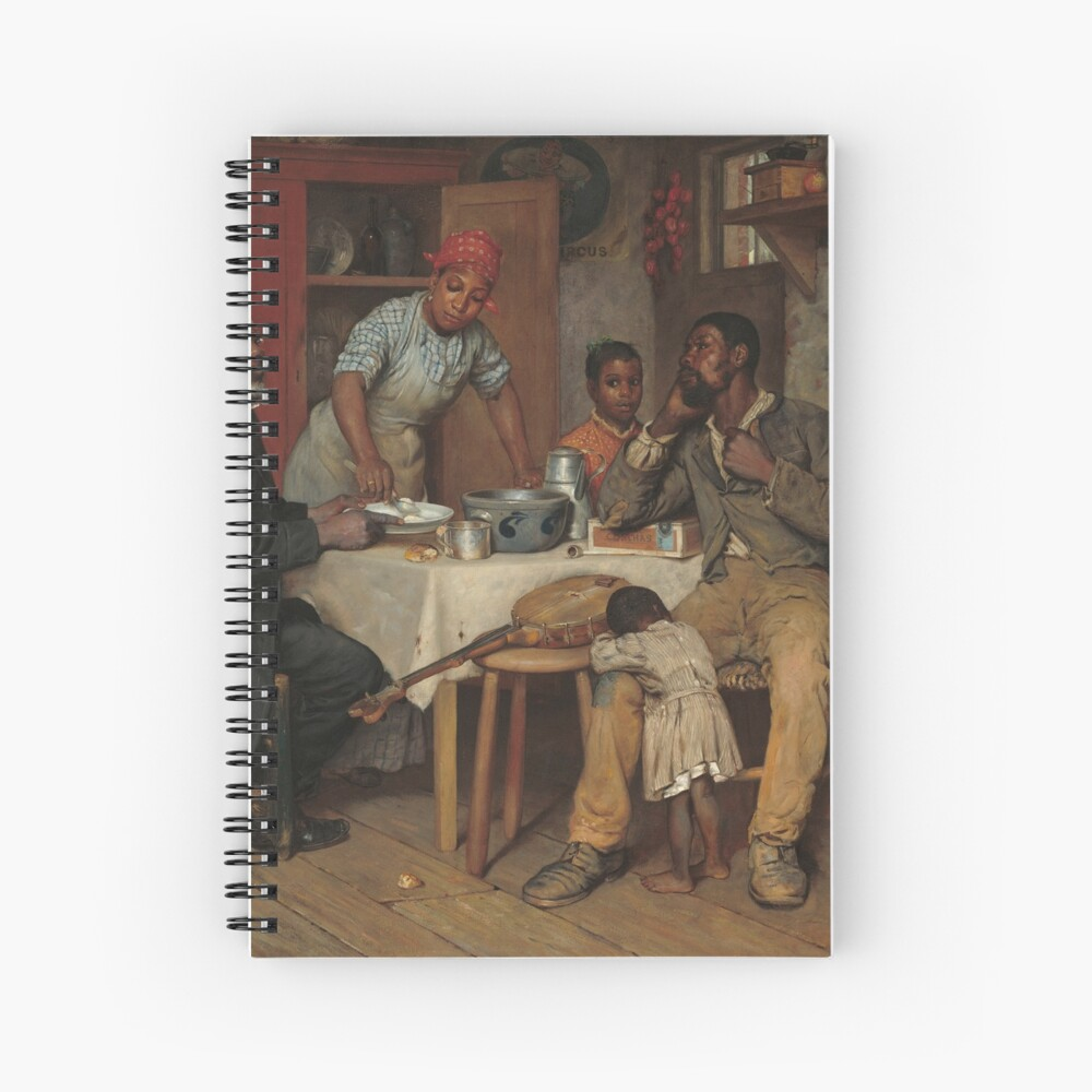 A Pastoral Visit Oil Painting by Richard Norris Brooke Spiral Notebook