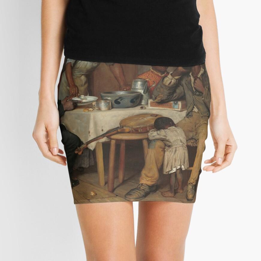 A Pastoral Visit Oil Painting by Richard Norris Brooke Mini Skirt