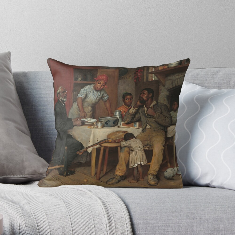 A Pastoral Visit Oil Painting by Richard Norris Brooke Throw Pillow
