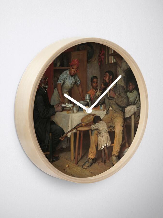 Alternate view of A Pastoral Visit Oil Painting by Richard Norris Brooke Clock