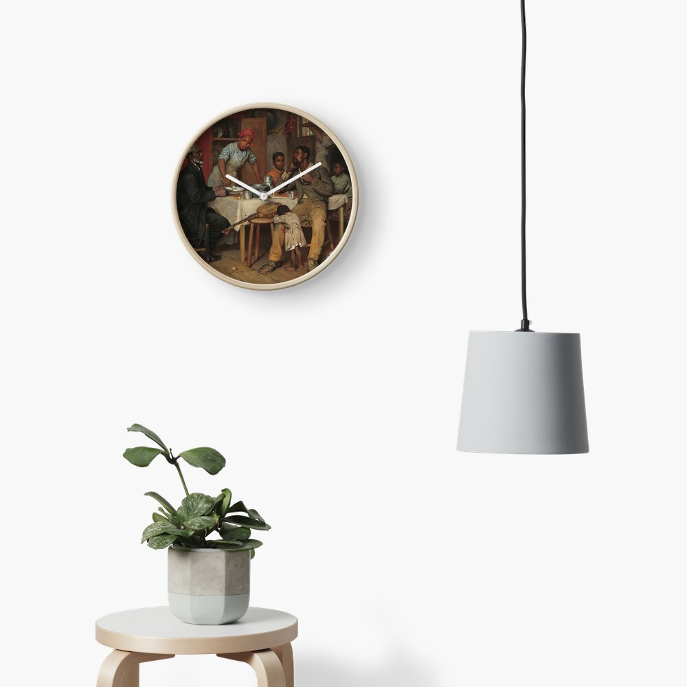 A Pastoral Visit Oil Painting by Richard Norris Brooke Clock