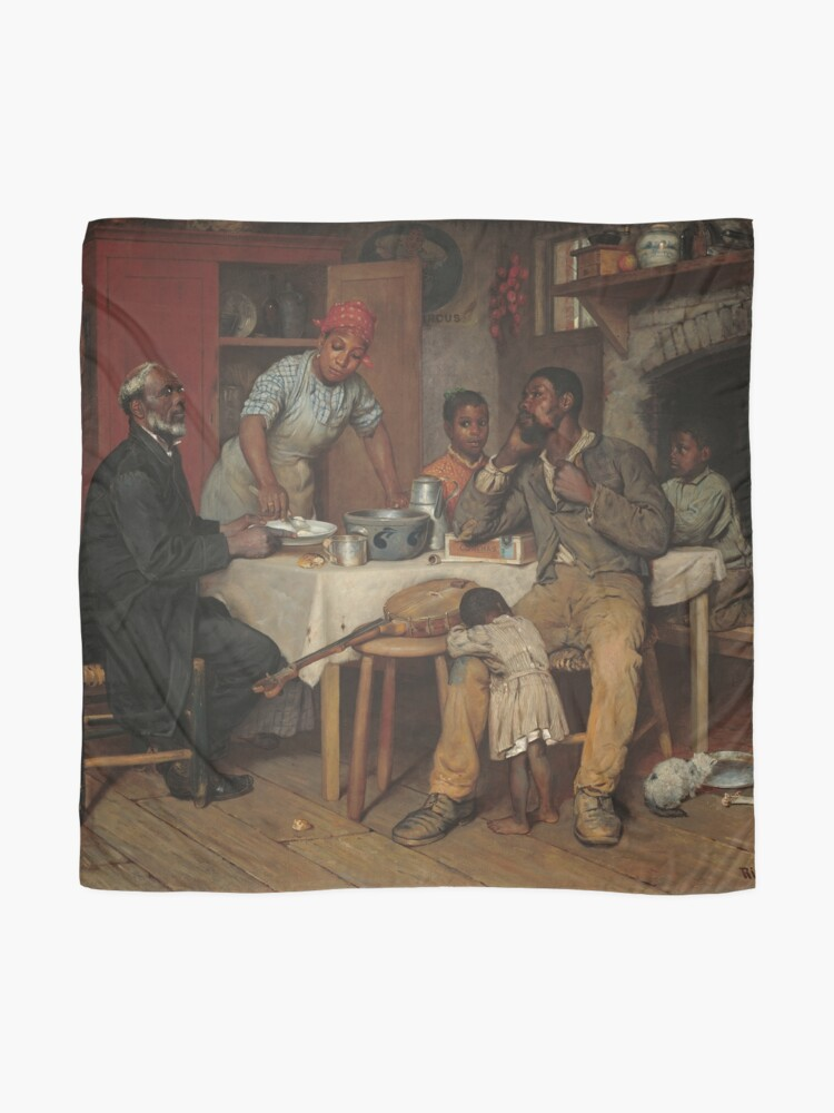 Alternate view of A Pastoral Visit Oil Painting by Richard Norris Brooke Scarf